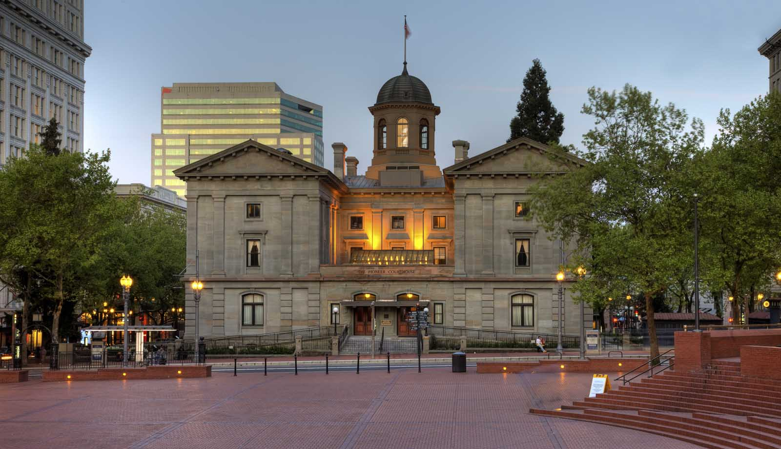 Pioneer Courthouse Square in Portland Oregon