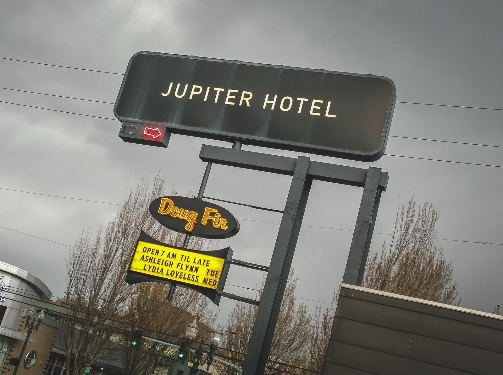 Jupiter Hotel in Portland Oregon