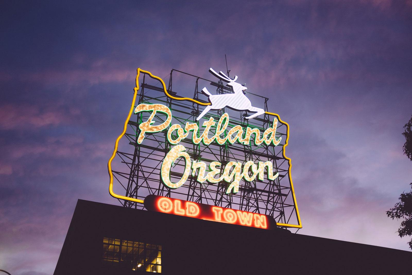 Best Time to Visit Portland Sign